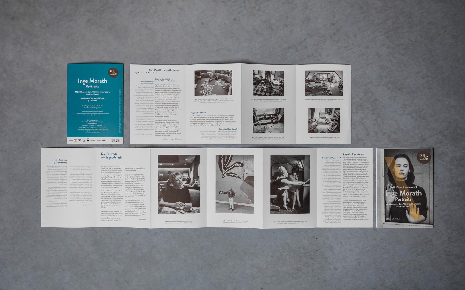 Leporello-Folder Inge Morath für das GrazMuseum von der Werbeagentur look! design