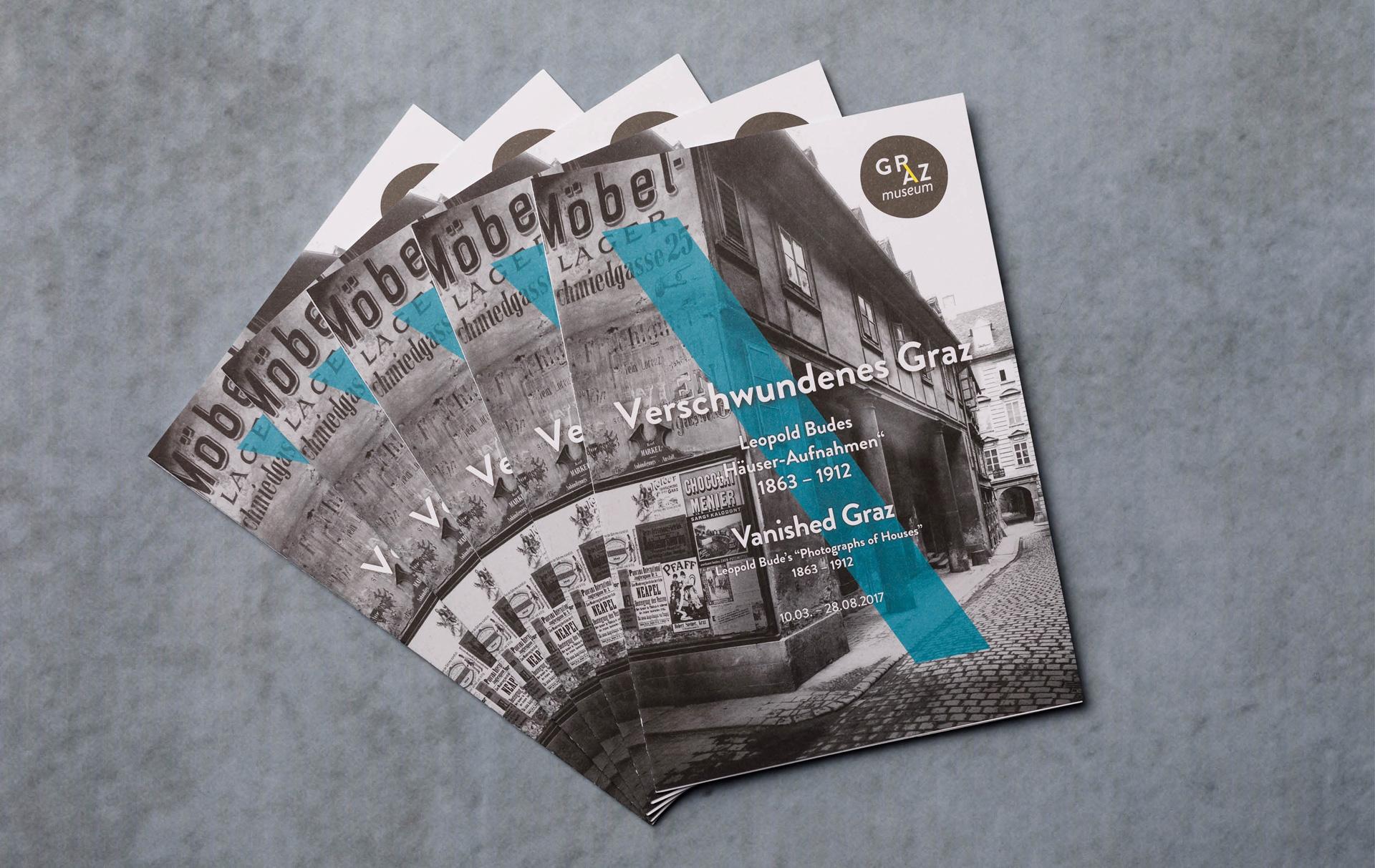 Leporello-Folder für das GrazMuseum von der Werbeagentur look! design