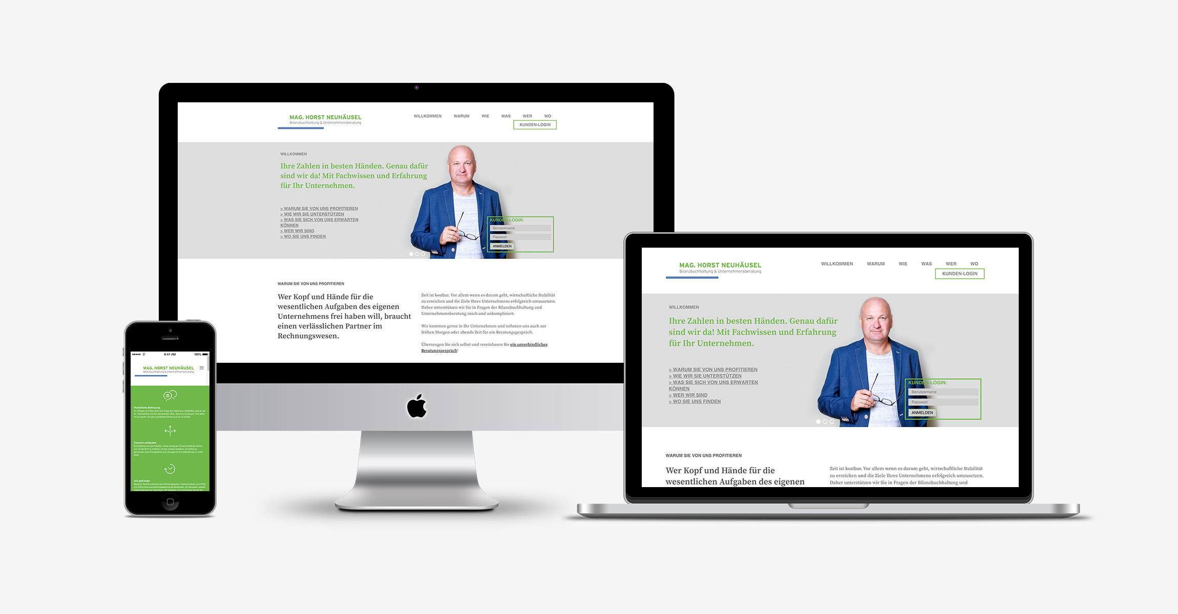 Website für Horst Neuhäusel von der Werbeagentur look! design
