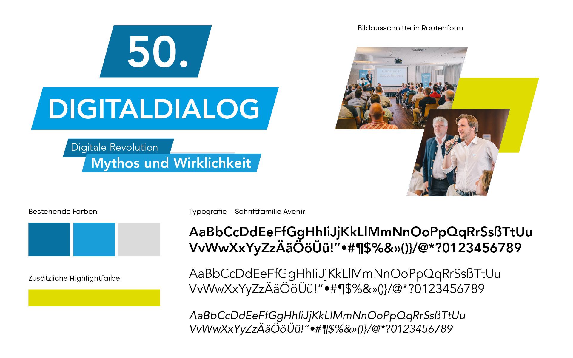 Ausstellungsdesign für den 50. Digitaldialog der SFG von der Werbeagentur look! design