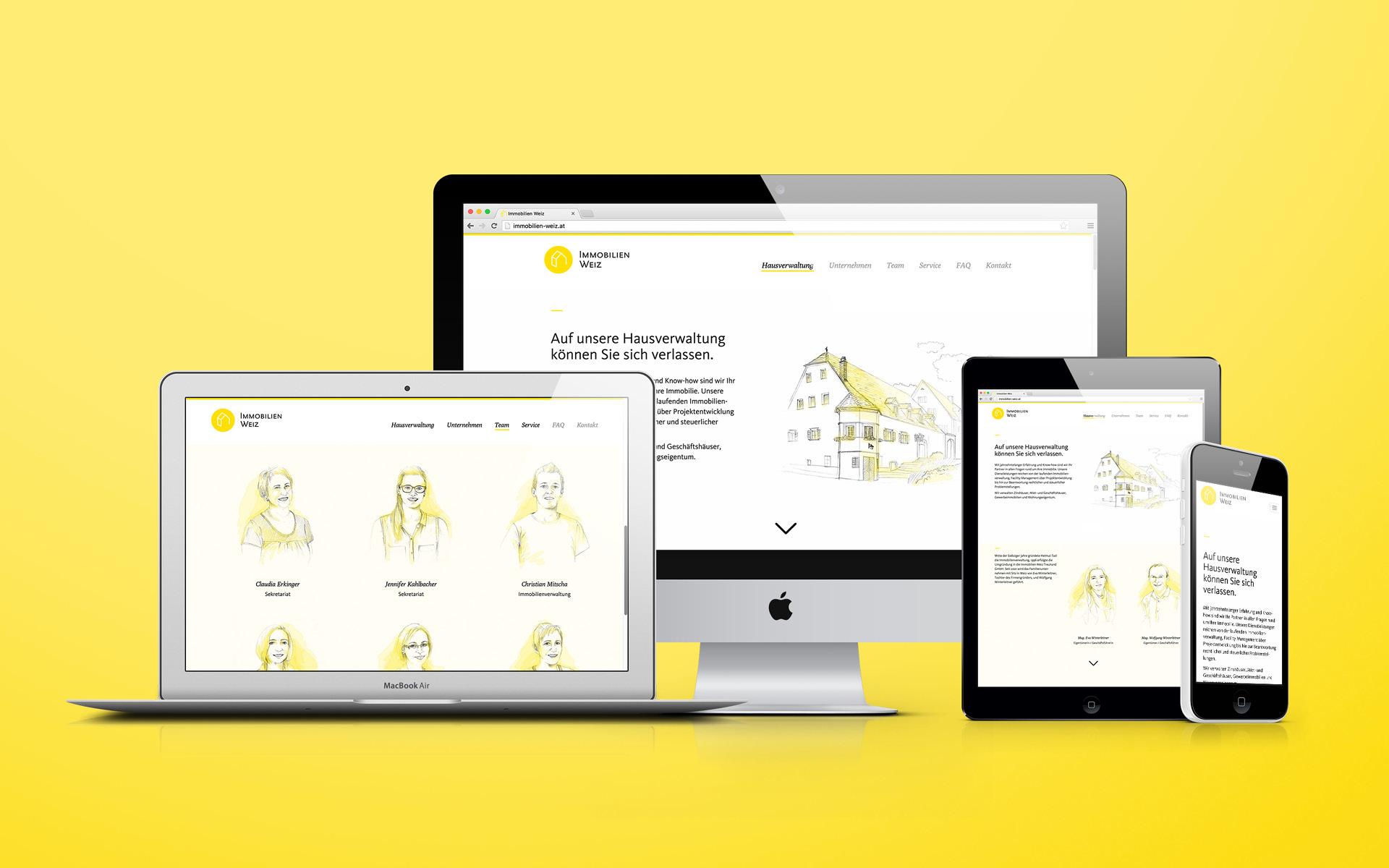 Redesign und Website für Immobilien Weiz von der Werbeagentur look! design