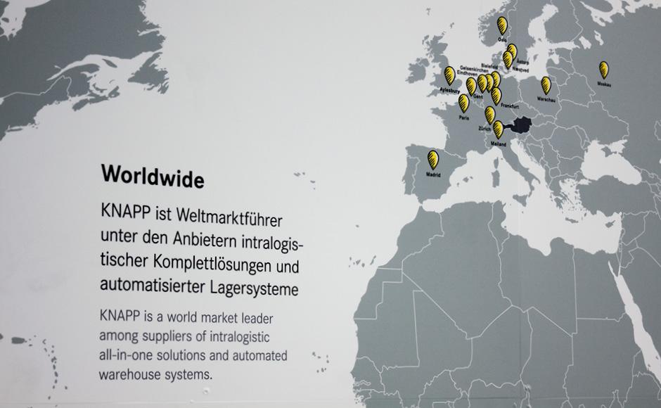 Besucherführung für KNAPP von der Werbeagentur look! design