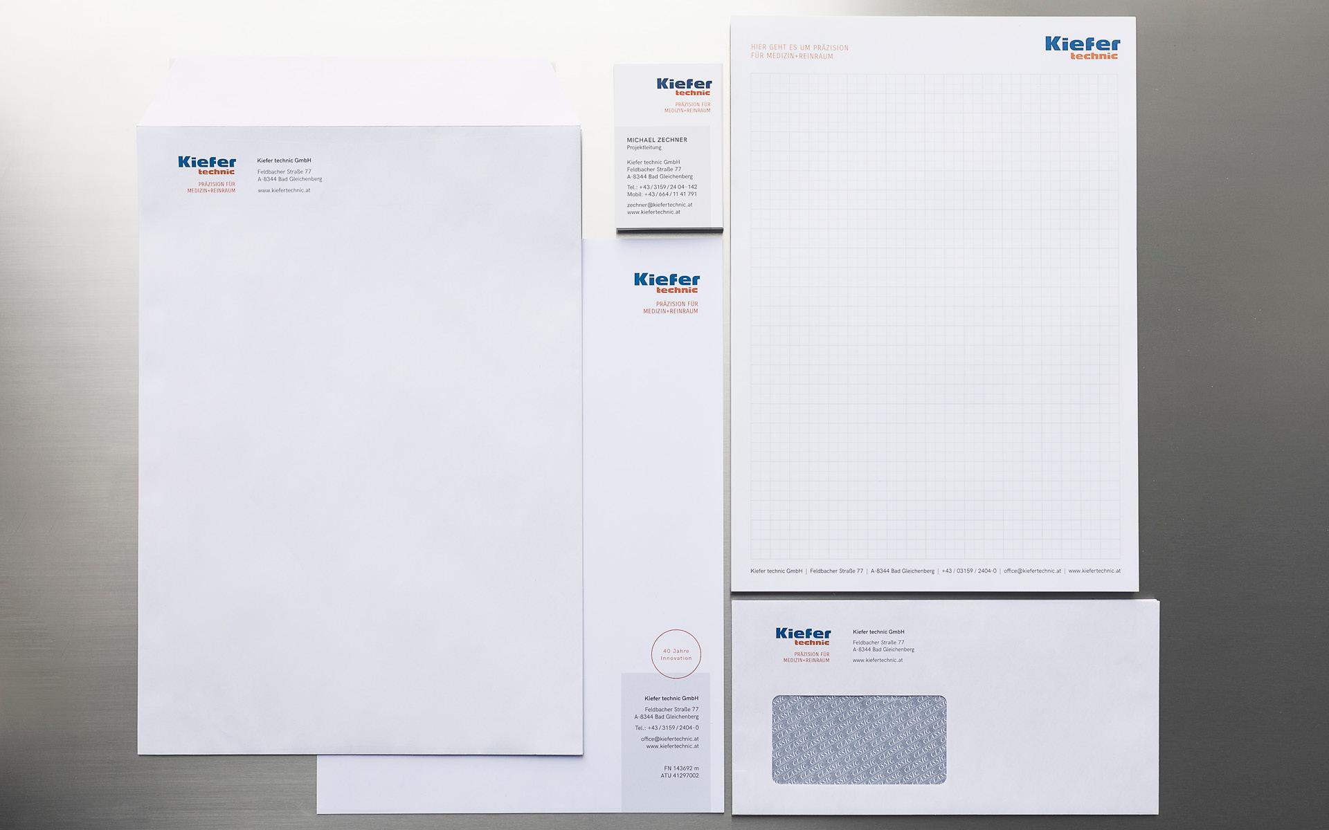 Redesign Erscheinungsbild für Kiefer technic von der Werbeagentur look! design