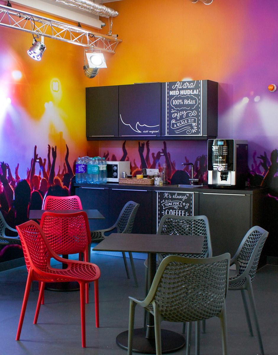 Raumgestaltung für Russmedia von der Werbeagentur look! design