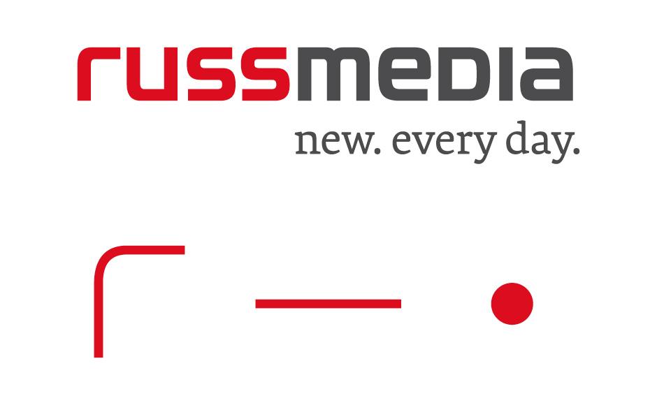 Branding Russmedia von der Werbeagentur look! design