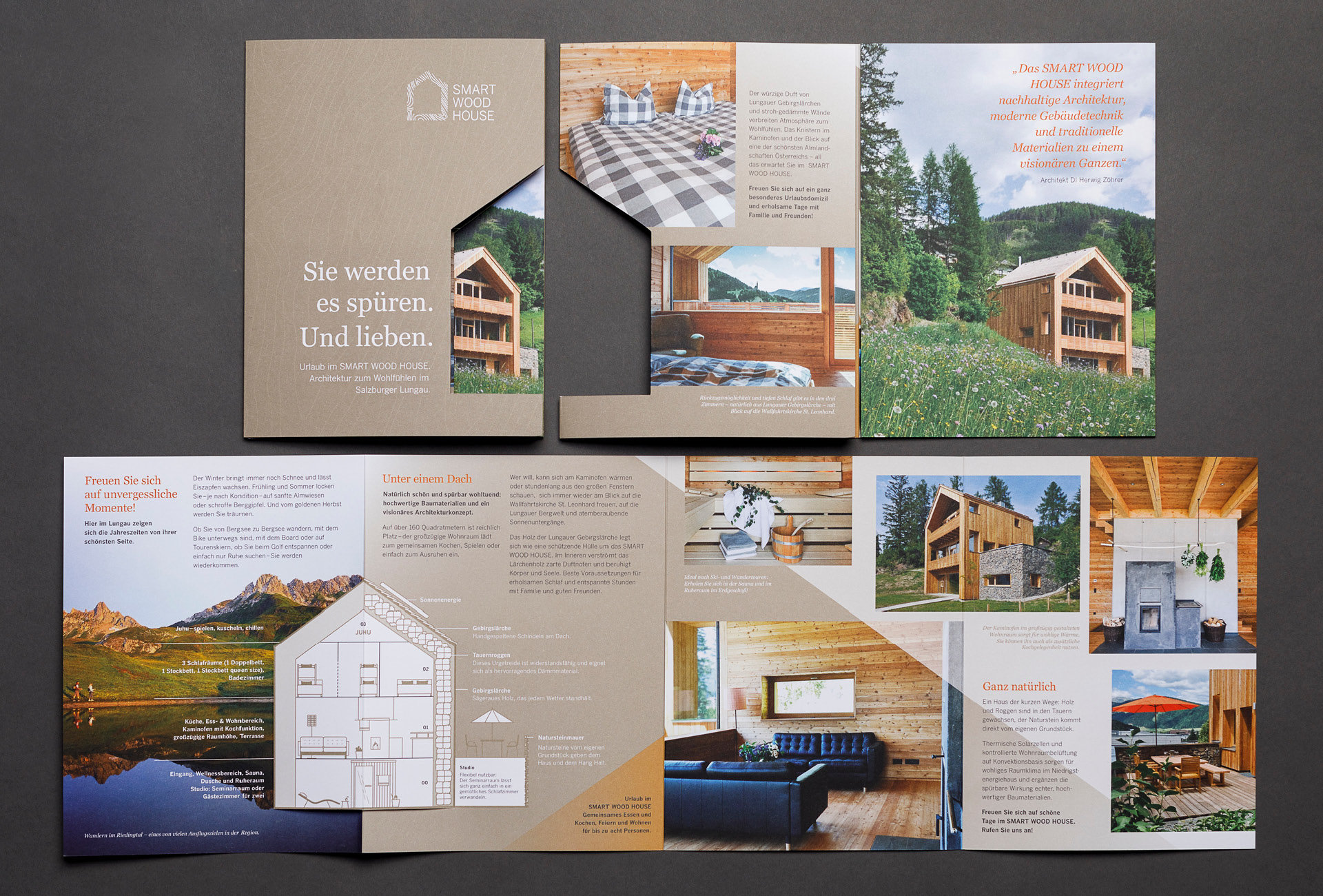 Corporate Identity für das Smart Wood House von der Werbeagentur look! design
