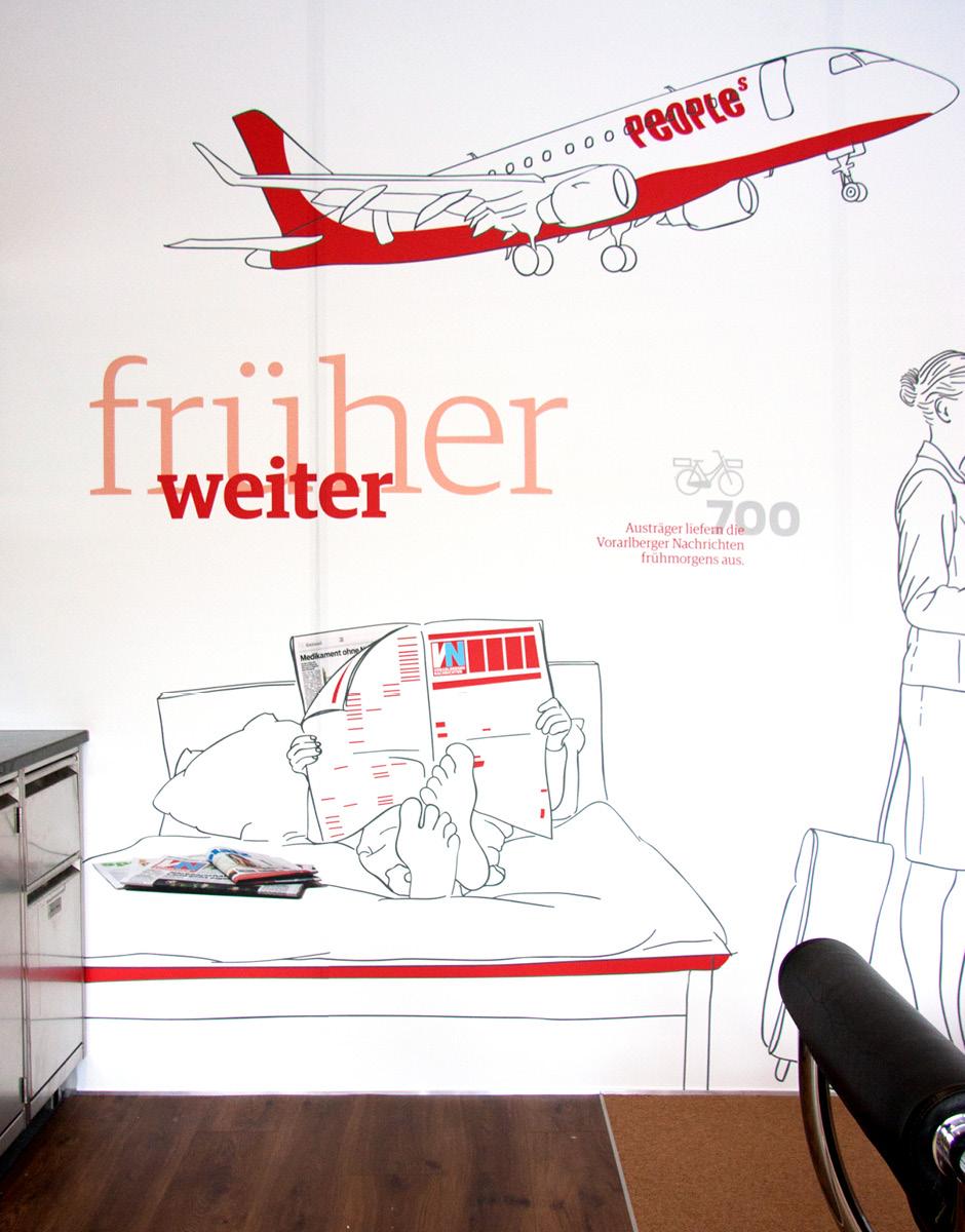 Raumgestaltung VIP Lounge Vorarlberger Nachrichten von der Werbeagentur look! design