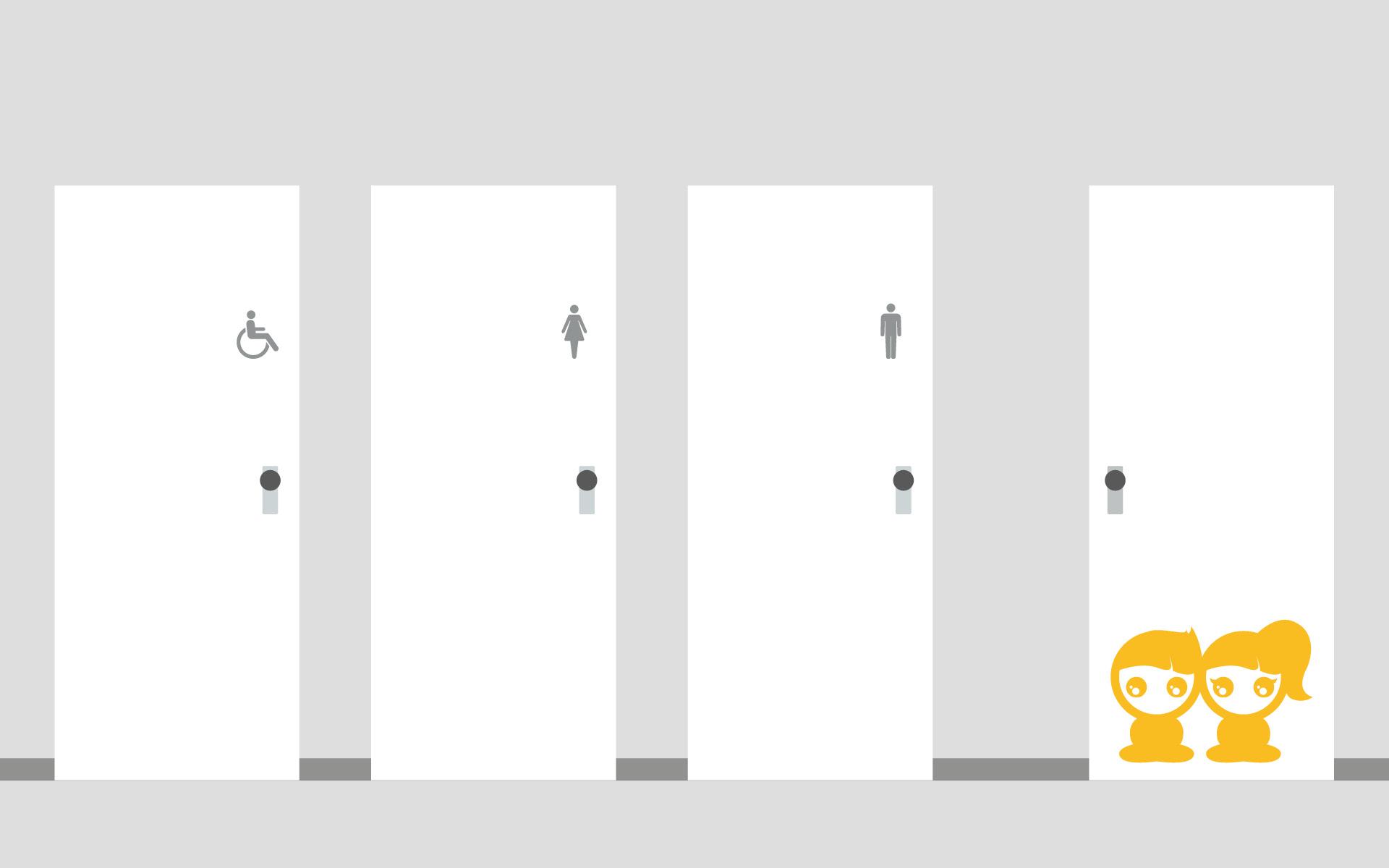 Barrierefreies Leitsystem für die Caritas von der Werbeagentur look! design