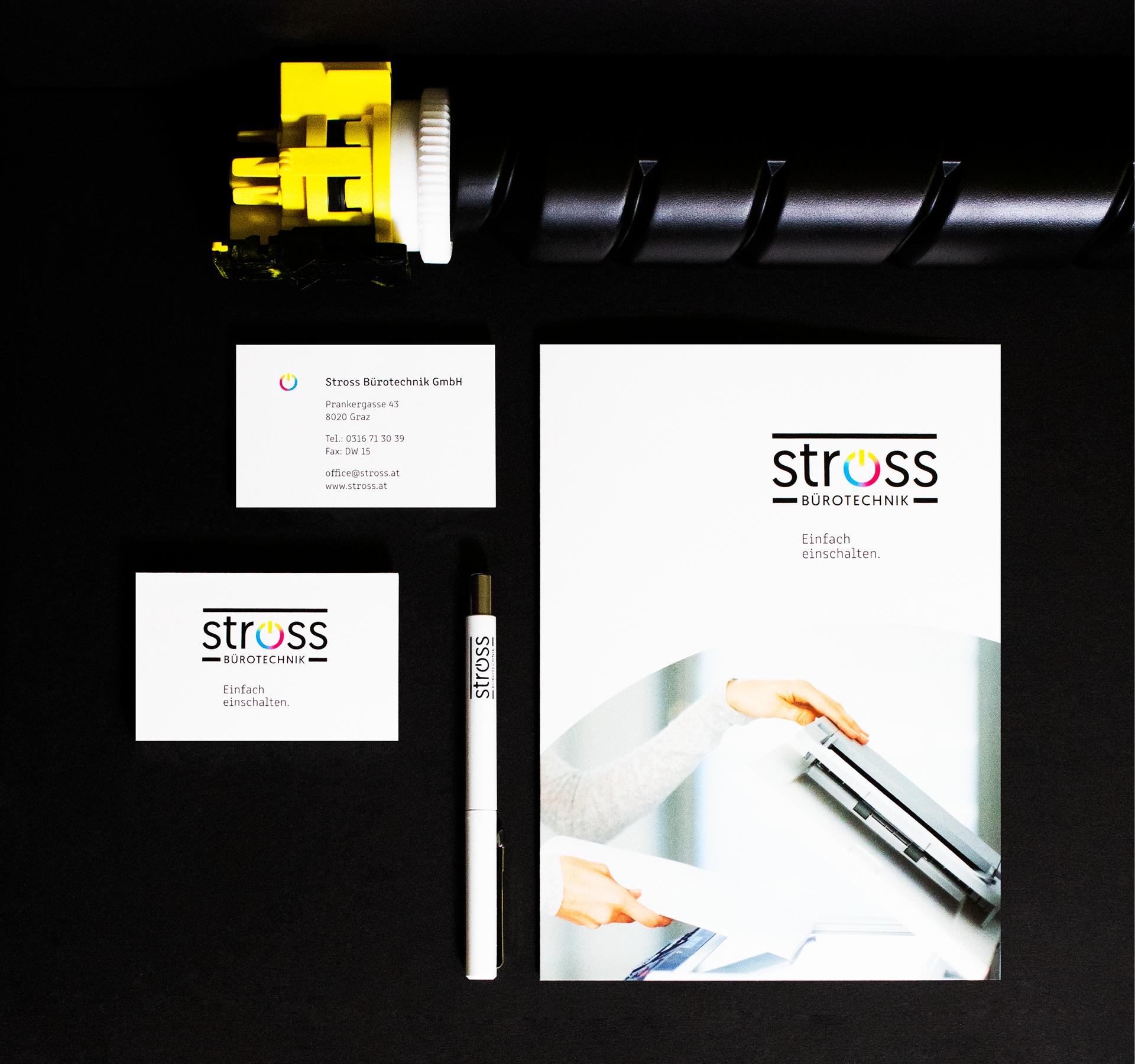 Redesign der Corporate Identity für Stross Bürotechnik von der Werbeagentur look! design