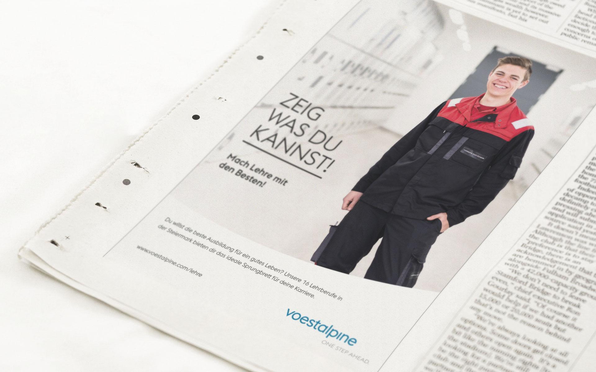 Lehrlingskampagne für die voestalpine von der Werbeagentur look! design