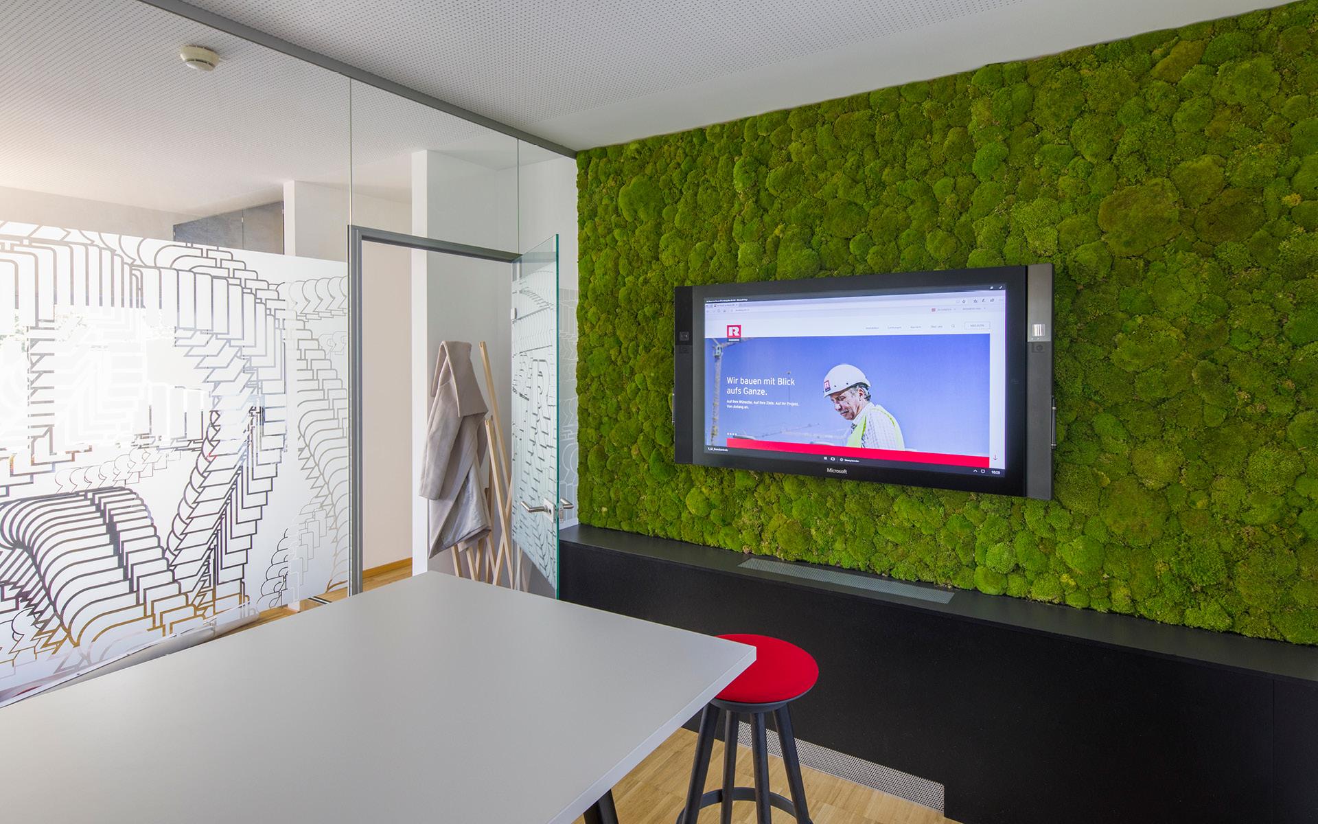 Büro-Umgestaltung für Rhomberg Bau von der Werbeagentur look! design