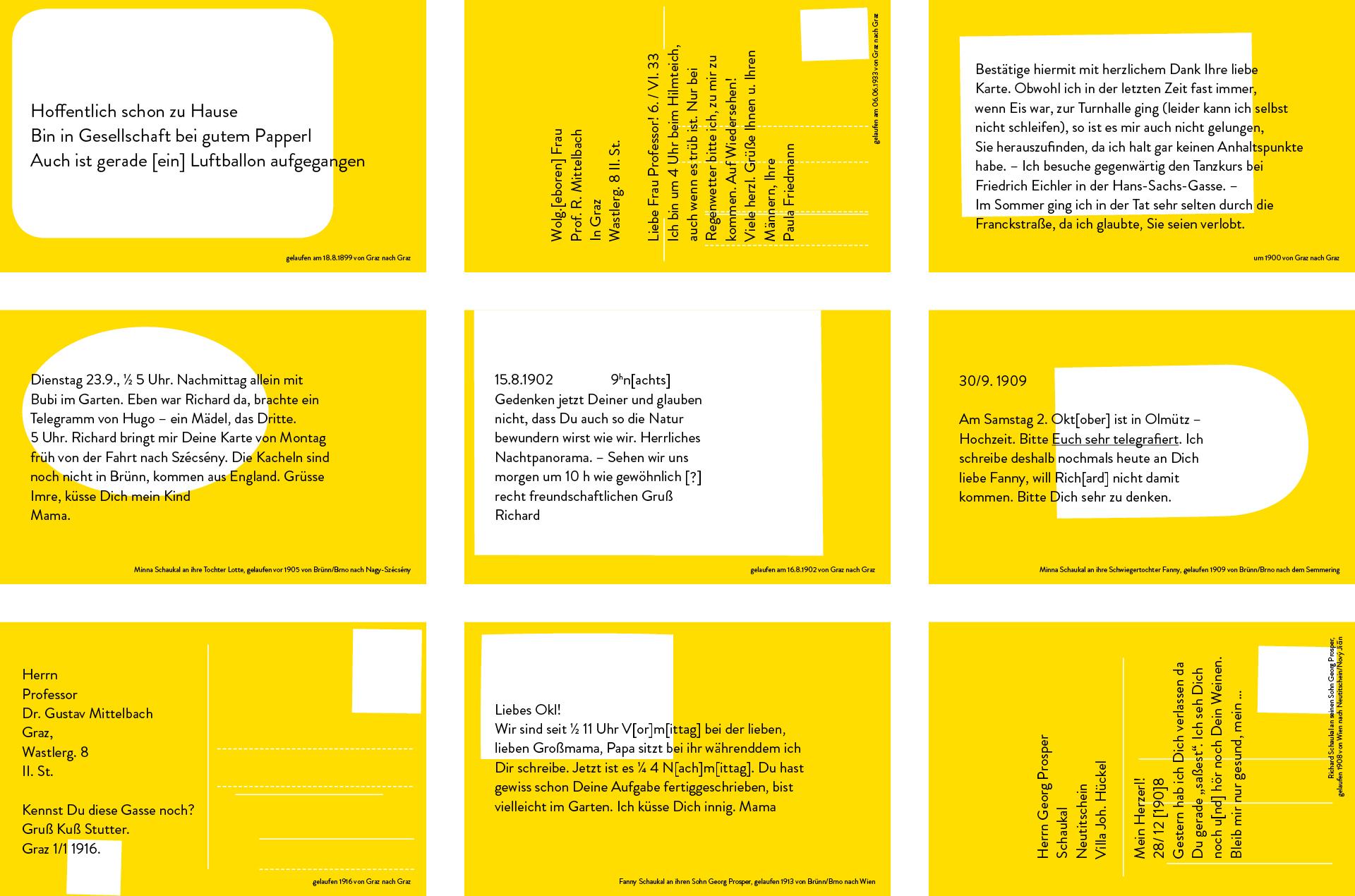 """Ausstellungsgrafik für die Ausstellung """"Social Media 1900"""" im GrazMuseum von der Werbeagentur look! design"""