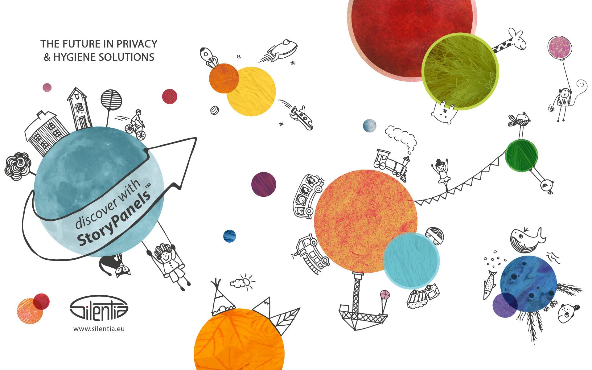Story Panels: Grafikdesign für Silentia von der Werbeagentur look! design