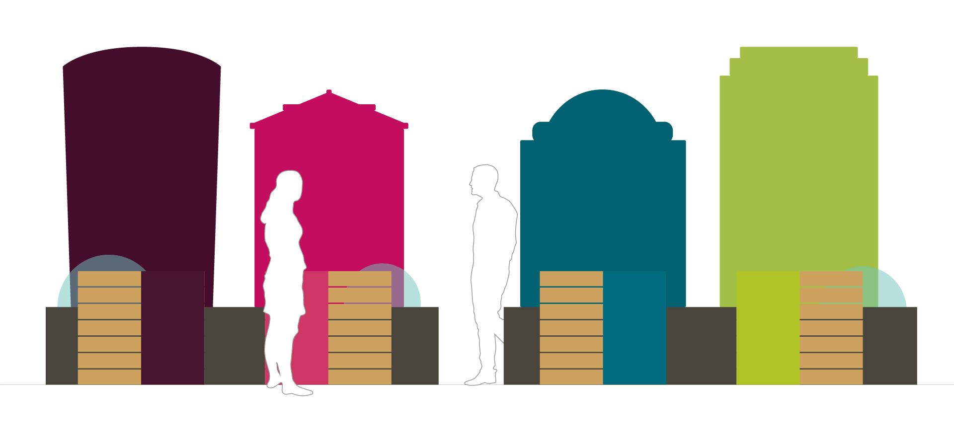 Ausstellungsdesign Grafik von Kreativagentur look design Graz am Zukunftstag 2019 fuer SFG