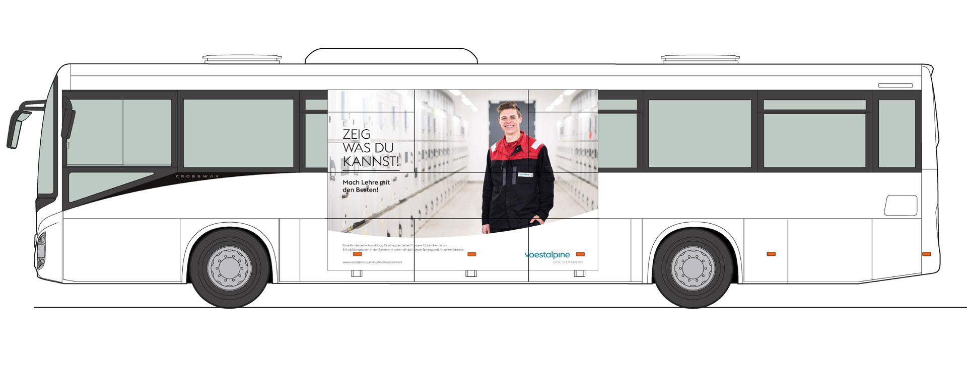 Werbemittel Lehrlings Kampagne von Werbeagentur look design für voestalpine