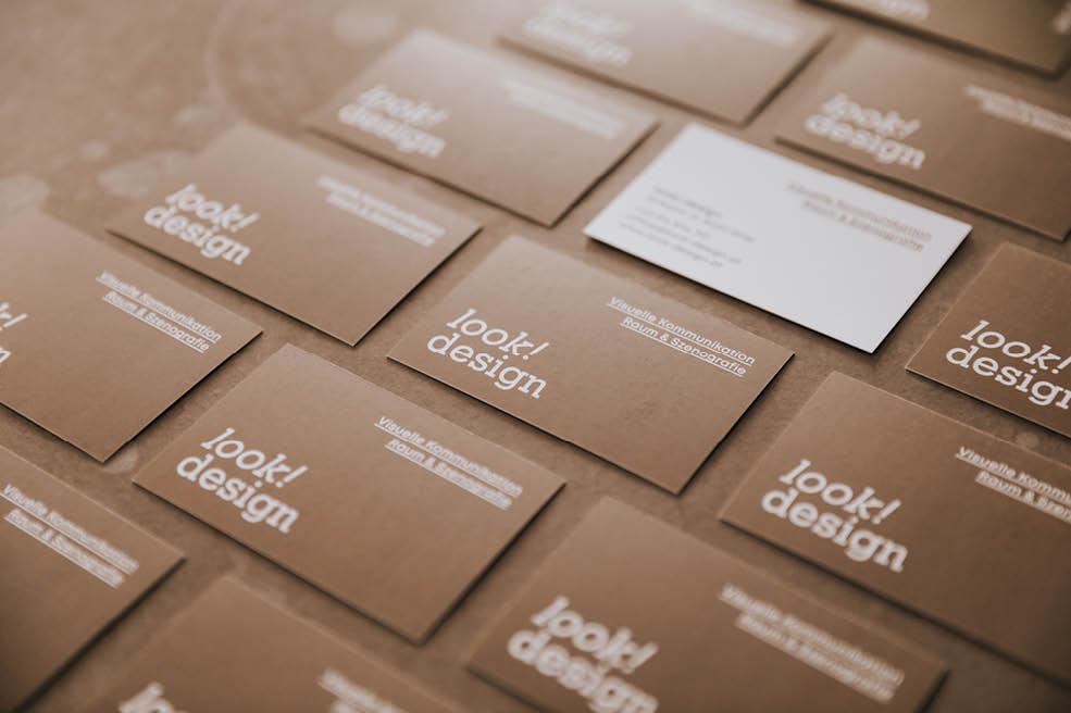 Visitenkarten der Werbeagentur look! design