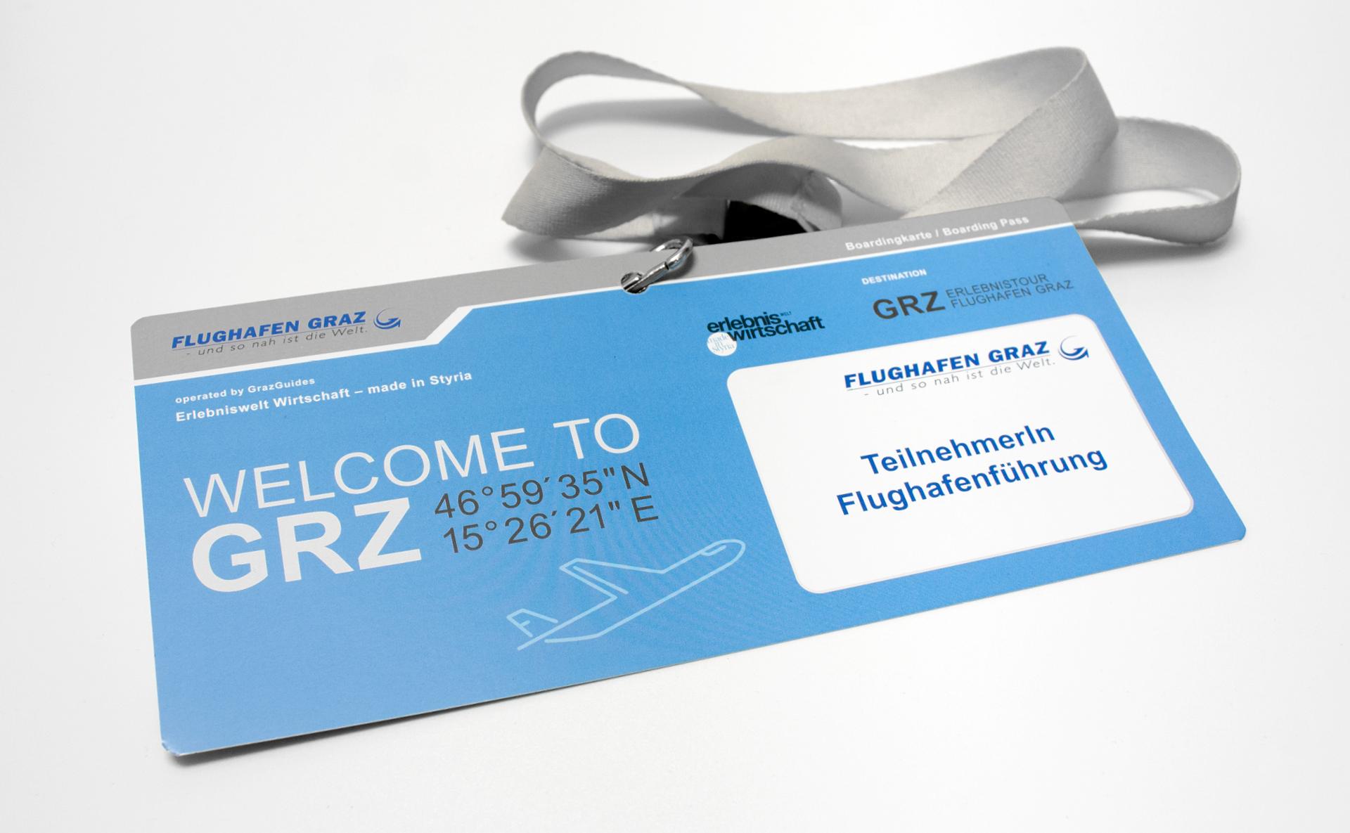 Erlebnistour für den Flughafen Graz von der Designagentur look! design