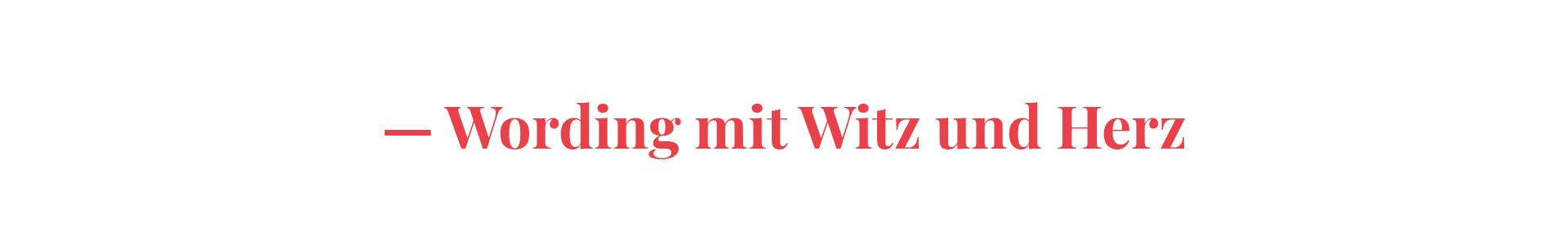 Wording mit Witz und Charme - Redesign für Texterin Nina Popp von der Designagentur look! design