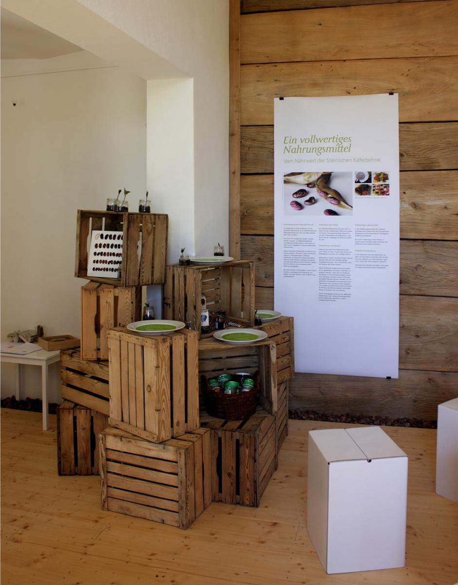 Themenausstellung für Backsteffls Käferbohnen Kabinett von der Designagentur look! design
