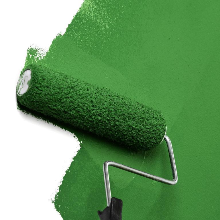 Grünes Büro - Beispiel Wand grün streichen: Blogbeitrag der Designagentur look! design