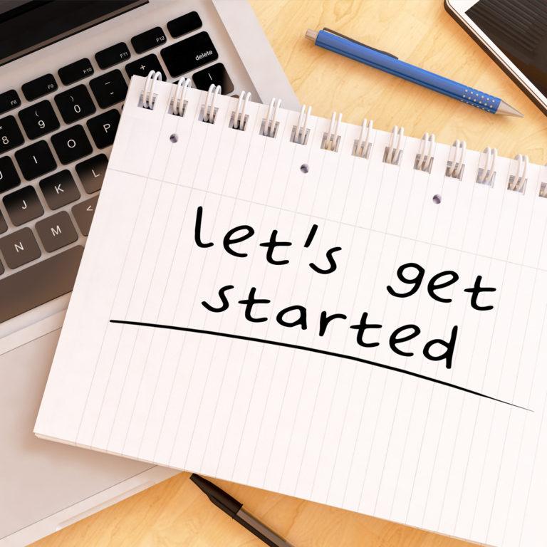 Let's get started. Neustart mit der Kreativagentur look! design