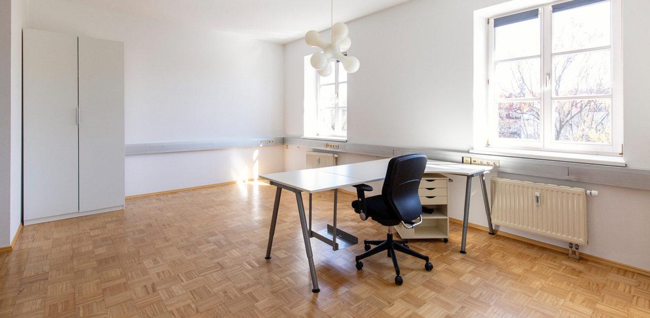 Arbeitsraum gesucht? Im Büro der Designagentur look! design sind 40m2 frei