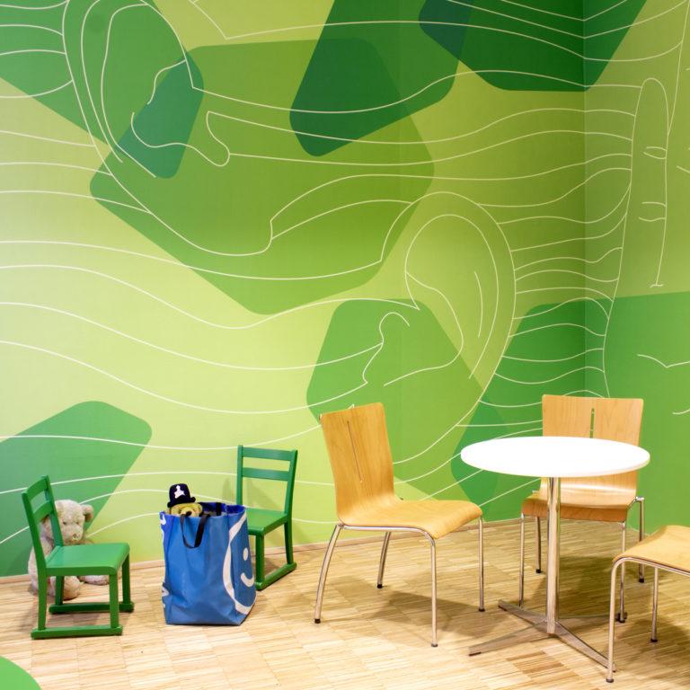 Grünes Büro - Beispiel grüne Wand: Blogbeitrag der Designagentur look! design