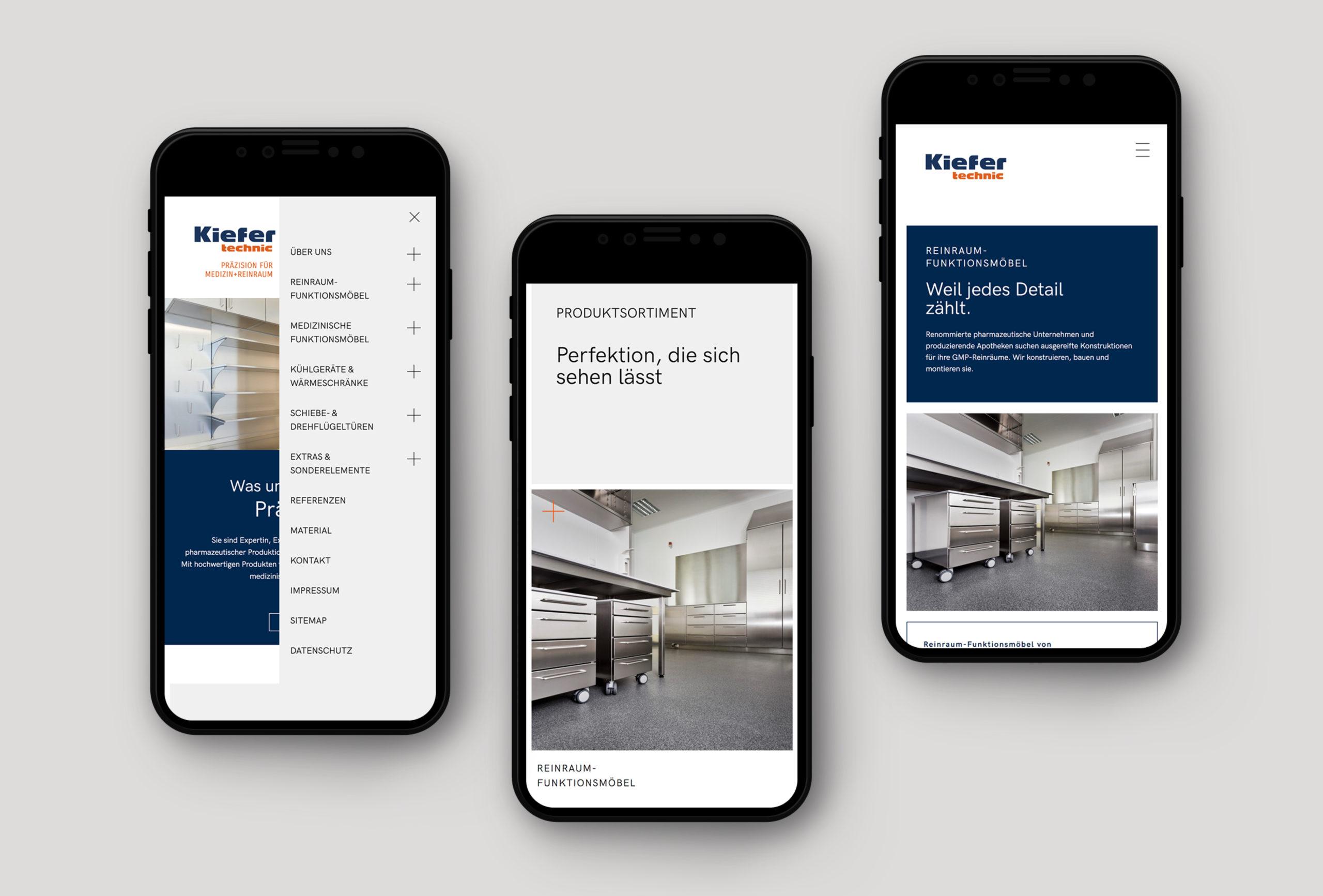 Webauftritt von kiefer technic, umgesetzt von der Designagentur look! design