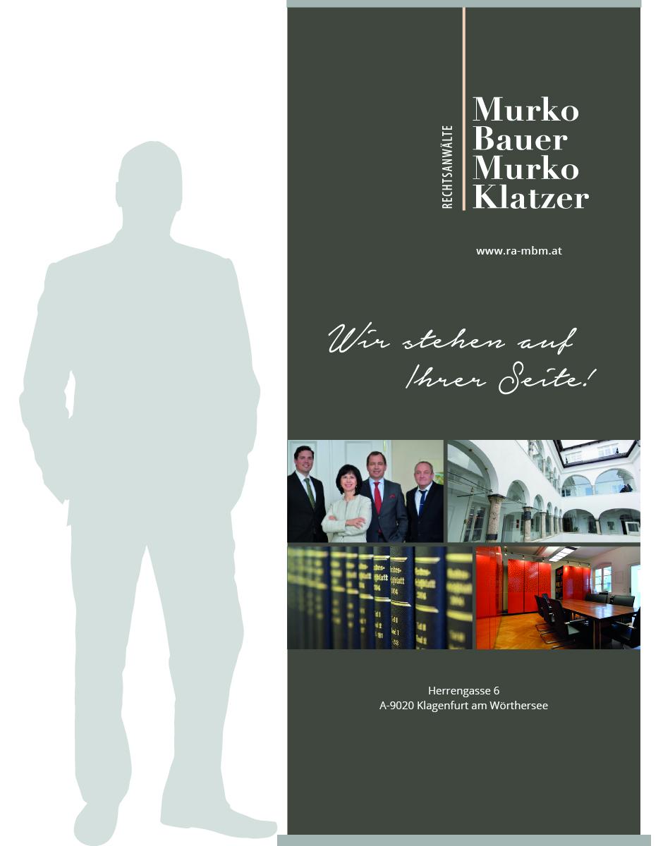 Rollup im Rahmen des Redesign für Rechtsanwaltskanzlei Murko Bauer Murko Klatzer von look! design