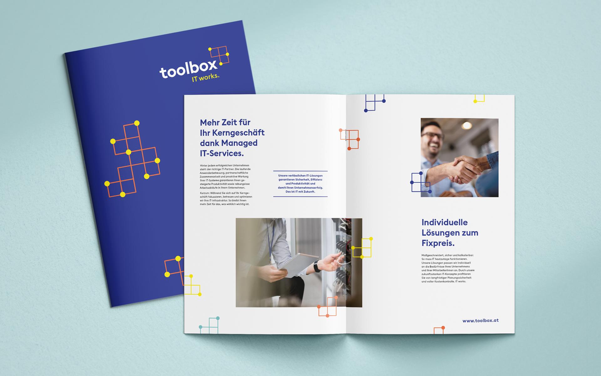 Angebotsmappe im Rahmen des neuen Markenauftritts für toolbox Systemberatung von look! design