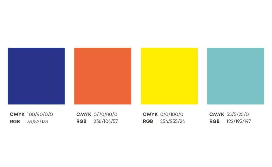 Farbwelt des neuen Markenauftritts für toolbox Systemberatung von look! design
