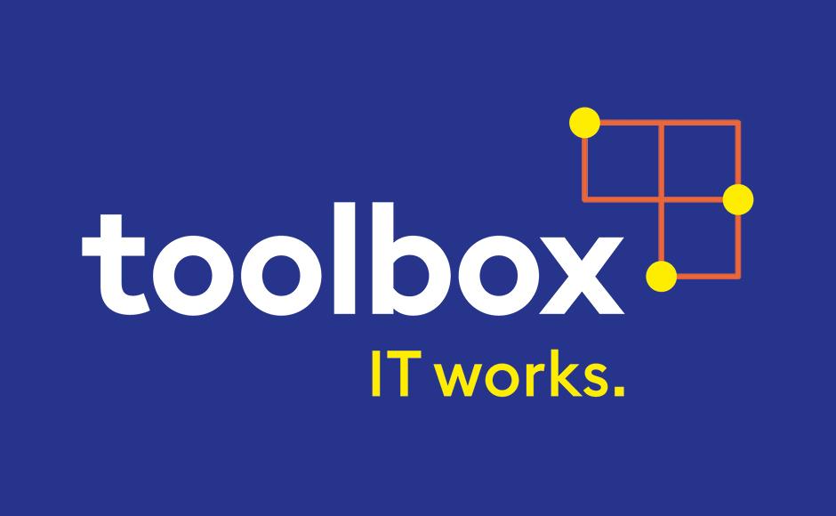 Logo im Rahmen des neuen Markenauftritts für toolbox Systemberatung von look! design