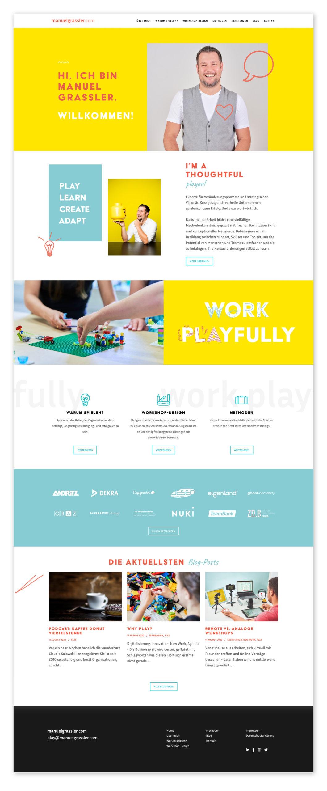 Markenauftritt für Manuel Grassler von der Designagentur look! design